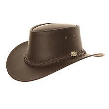 Australian Genuine Leather Bush Hat in Brown - Various Sizes