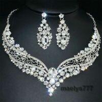 *PARURE BIJOUX Mariée strass *collier, boucle d'oreille mariage cérémonie soirée