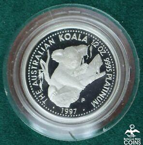 1997 Australia $50 (.9995) 1/2oz Platinum Koala Proof Coin w/Wood Box KM#347