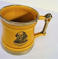 British Britannian Designs - William Shakespeare - Coffee Beer Mug Stein Tankard