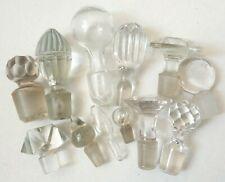 Lot de 12 bouchons anciens pour carafe flacon en cristal et verre