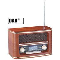 auvisio Digitales Nostalgie-Stereo-Radio mit DAB+, BT 2.1, FM und Wecker