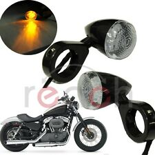 Pair Led Turn Signal Light Indicator Front Motorcycle Amber Fits Harley
