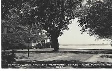 Cape Porpoise Maine Wentworth Estate Real Photo Postcard Harbor View