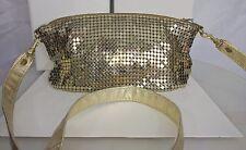 Lyrella Ladies Evening Purse Handbag Gold Metallic Mesh
