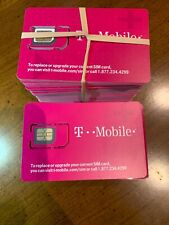 T-Mobile Lot 50 x NEW TMobile 4G LTE Sim Card Unactivated. 3 In 1 Triple Cut SIM