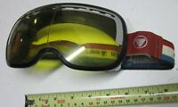 Vintage Yellow Lens Bausch & Lomb Ski Goggles Snow Motocross Red White Blue USA