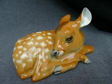 niedliche alte Porzellanfigur - Reh - Rehkitz - Bambi - tolle Ausformung
