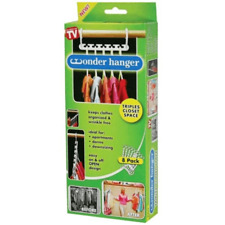 Wonder Hanger 8 Pack- Triples Closet Space- As Seen on TV- Cascading Space Saver