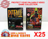 25x ATARI JAGUAR CIB GAME - CLEAR PLASTIC PROTECTIVE BOX PROTECTOR SLEEVE CASE