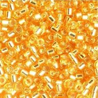 Miyuki Delica Seed Beads Size 11/0 Silver Lined Gold 7.2g-Tube (DB042)