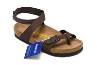 Summer Birkenstock Yara Birko-Flor Brown Sandals Women's Shoes