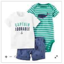 Carter's 3-Piece Bodysuit & Shorts Set (captain adorable)