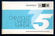 Owner's Manual * Betriebsanleitung 1975 Chevrolet Chevy Caprice  Impala (USA)