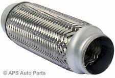 "45 x 100mm Braided 1.75 x 4"" Inch Exhaust Flexible Flexi Flex Joint Pipe Repair"