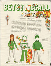 1970 vintage paper Doll, Betsy McCall, 'Adventure on a Windy Day' -061512