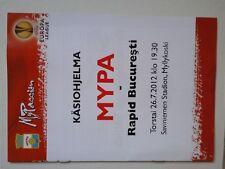 Programm MYPA MYLLYAKOSKI - RAPID BUCHAREST Europa League 12/13 Finland Romania