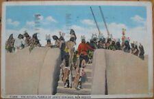 1941 Postcard: Estufa, Pueblo Santo Domingo- New Mexico
