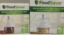 FoodSaver Set Wide Mouth & Regular Jar Sealer lids and Hose