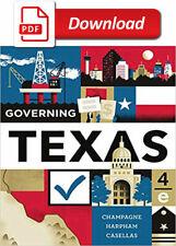 Governing texas 4th edition���️Please Read Description👇
