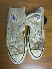 VTG Converse All Star CHUCK TAYLOR GLITTER GOLD HIGH TOP Men 6 1/2
