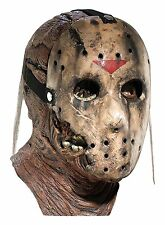 Friday The 13th Part 7 New Blood Jason Voorhees Deluxe Overhead Mask, Gray, One