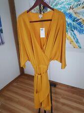 Nwt Women's Plus Size Knit Wrap Midi Dress - A New Day- Yellow- Size- 3X