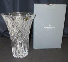 """Waterford Seahorse Logo Large 10"""" Lead Crystal Cassidy Style Vase New In Box"""
