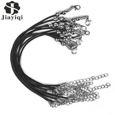 JYQ 20pcs Leather Bracelet DIY Charms Findings String Cord Lobster Clasp Bead