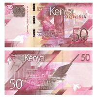 Kenya 50 Shillings 2019 P-New First Prefix 'AA' Banknotes UNC