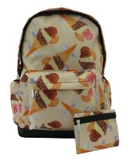 Ice Cream Sundae Cone Backpack Rucksack School Travel Emo Skull PremEss Bag 009