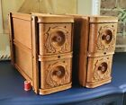 Two Sets of Beautiful Antique Singer Treadle Sewing Machine Cabinet Drawers