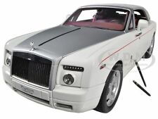 ROLLS ROYCE PHANTOM DROPHEAD COUPE WHITE 1/18 DIECAST CAR MODEL KYOSHO 08871