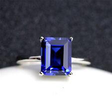 Unheated Blue Rectangular Sapphire Gems 7.26ct AAA 9x11MM Loose Gemstone Jewelry