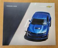 2020 Chevrolet Camaro 44-page Car Sales Brochure Catalog ZL1 SS LT Convertible