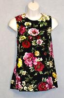 D5 NWT DOLCE & GABBANA Floral Signature Print Back Concealed Zip Top Sz 38 $870