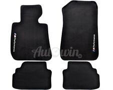 BMW 3 Series E92 E92LCI Black Floor Mats With Performance Emblem Clips LHD