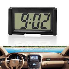 LCD auto interni auto cruscotto scrivania staffa autoadesiva orologio digitale