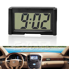 Car Interior Auto Dashboard Desk LCD Screen Digital Clock Self-Adhesive Bracket