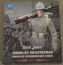 "DID Action Figure ww1 American BUCK JONES 1/6 12"" in scatola Drago Cyber HOT Toy"