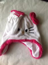 HELLO KITTY SANRIO Pink Bow Fleece-Lined Trapper Winter Hat &Mittens Set NWT