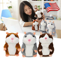 Adorable Kids Toys Interesting Speak Record Talking Hamster Pet Mouse Plush Cute