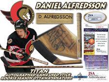 """DANIEL ALFREDSSON Signed """"ROOKIE"""" Game Used Stick OTTAWA SENATORS - JSA #J68919"""