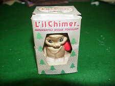 VTG 1985 JASCO L'IL CHIMER Handpainted CAT BISQUE Porcelain CHRISTMAS XMAS BELL