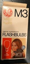 Vintage GE Flashbulbs M3 Clear Box of 12