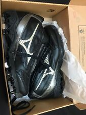 NEW MIZUNO Baseball Cleats Shoes 9 Spike Vintage Mid G4 Black - Mens Size 8