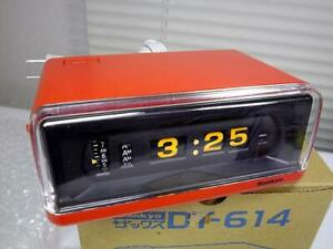 Sankyo Flip alarm clock 10 Red tested F/S