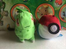 Pokemon Plush Chikorita Reversible Soft Pokeball doll stuffed figure US Seller