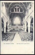 Christ Church Interior, St Leonards on Sea. Pre-1914 Vintage Postcard. Free Post