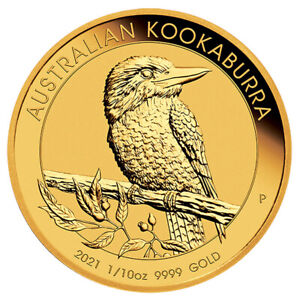 2021 1/10 oz .9999 GOLD KOOKABURRA ~ SEALED ~ ONLY 15,000 MINTED ~ FREE SHIPPING